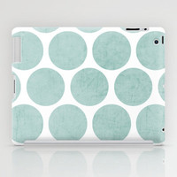 robins egg blue polka dots iPad Case by her art