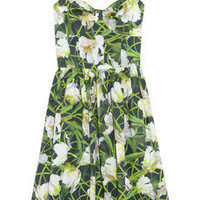 Oscar de la Renta | Floral-print stretch-cotton dress | NET-A-PORTER.COM
