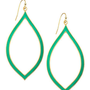 Enamel Marquis Drop Earrings, Turquoise