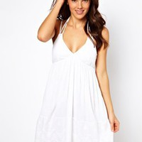 French Connection Amalfi Cutwork Beach Dress at asos.com