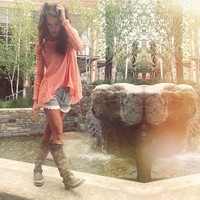 Peach, Lace, and Cowboy Boots
