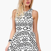 Georgina Dress - Black/White