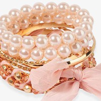 Chiffon Wrapped Bangle Set | FOREVER 21 - 1000044125