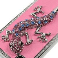Luxury Czech Rhinestone Lizard Designer Hard Case Cover For Apple iPhone 4 AT&T:Amazon:Cell Phones & Accessories
