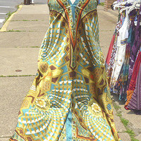 Women's Beautiful Silky Earthtone  Scarf Dress Hippie free size