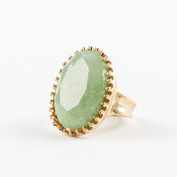 Frosty Green Stone Ring