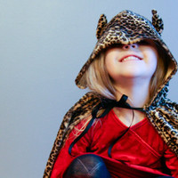 Leopard Costume Child Faux Fur Photographer Prop Halloween Make Believe