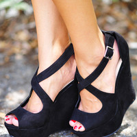 Last Call Look-A-Like Wedges: Black | Hope's