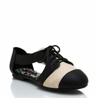 cut-out-oxfords BLACK CHESTNUT - GoJane.com