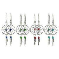 Tressa Sterling Silver Bead Dreamcatcher Hand Crafted Earrings | Overstock.com