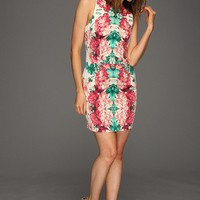 Kensie Mirrored Floral Dress