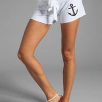 Wildfox Couture Hey Sailor Cutie Shorts in Clean White from REVOLVEclothing.com