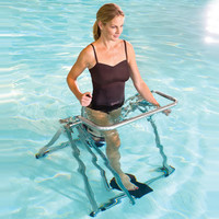 The In Pool Exercise Glider - Hammacher Schlemmer