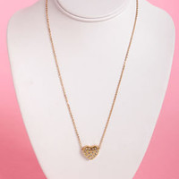 Game of Hearts Gold Heart Necklace