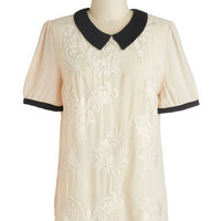 That's All She Baroque Top | Mod Retro Vintage Short Sleeve Shirts | ModCloth.com