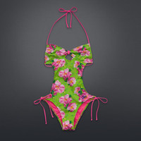 Floral One-Piece Swim Suit