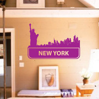 New York City Skyline Decal Sticker Sexy Graphic Art by DabbleDown