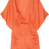 Diane von Furstenberg Sporty Kleio linen tunic – 59% at THE OUTNET.COM