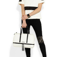 Karl Lagerfeld | Textured-leather bowling bag | NET-A-PORTER.COM