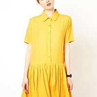 The WhitePepper Drop Waist Shirt Dress at asos.com