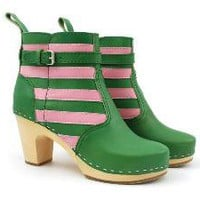 Swedish Hasbeens - High Heeled Jodhpur striped