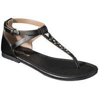 Women&#x27;s Mossimo Supply Co. Okal Thong Sandal with Studs - Black