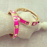 Pree Brulee - Pink Princess Spike Bangle