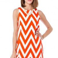Forever Zig Zag Tank Shift in Blood Orange - ShopSosie.com