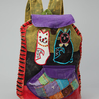 Green & Red Cat Backpack