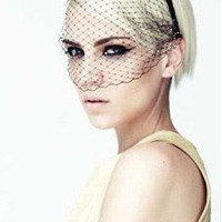 SEXY Fancy Lace up Secret Fishnet Show Veil Night hairband