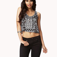 Tribal Print Crop Top | FOREVER 21 - 2056639824