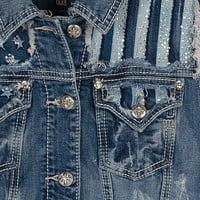 Miss Me Flag Yoke Denim Vest - Women's Vests | Buckle