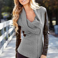 Grey Multi Sweater coat from VENUS