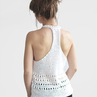 Cotton Sleeveless Top / Hand Knitted