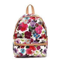 Retro Printed Floral Backpack