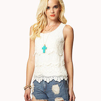 Crocheted Lace Tank | FOREVER21 - 2028266550