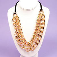 Double Chain Curb Necklace $12