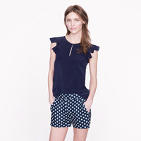 Silk flutter top - tops - Women's shirts & tops - J.Crew