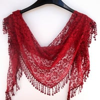 trendy scarf , womens fashion accessories, cowl , trendscarf lace scarf , lacy scarf