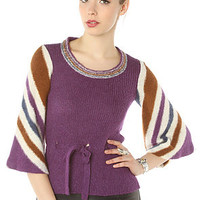 Vintage Boutique Sweater 60s Crewneck in Purple