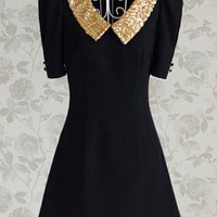 Stunning Sequin Collar Vintage inspire dress