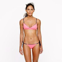 Italian matte tipped french top - swim - Women - J.Crew