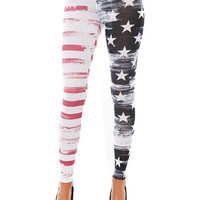 Papaya Clothing Online :: AMERICAN FLAG LEGGINGS