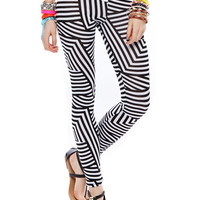 Papaya Clothing Online :: MULTI STRIPE LEGGINGS