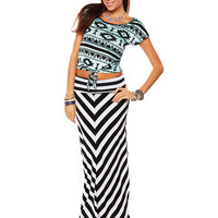 Papaya Clothing Online :: TRIBAL PRINT FRONT-TIE TOP
