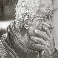 Elderly Man Art Print by AliArt