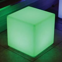 Color Changing Waterproof LED Light - Cube at Brookstone—Buy Now!