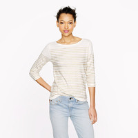Engineered-stripe boatneck top - long-sleeve tees - Women's knits & tees - J.Crew