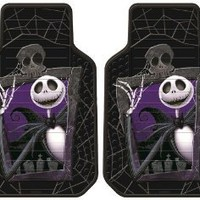 Nightmare Before Christmas Jack Skellington Graveyard Zombie NBC Front Car Truck SUV Floor Mats - Pair