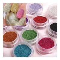 SODIAL(TM) Fashion Caviar Nails Art New 12 Colors plastic Beads Manicures or Pedicures Nail Art Hot Sales:Amazon:Toys & Games